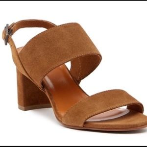 New Aquatalia Shani Suede Leather Heeled Sandals